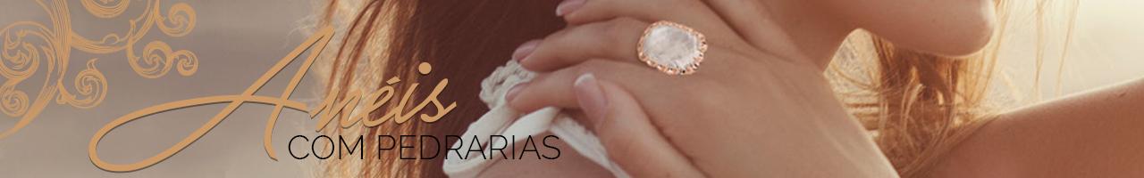 Anéis com Pedrarias